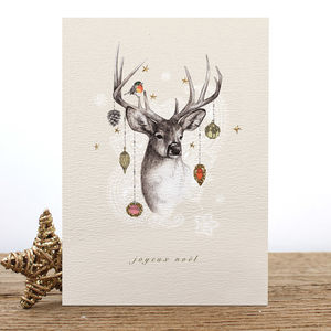 Reindeer Christmas Card Or Pack - cards & wrap