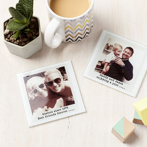 Personalised Glass Photograph Coaster - father's day gifts