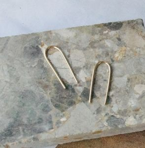 Sterling Silver Arc Earrings