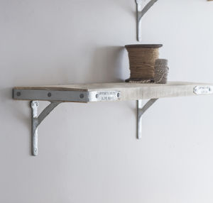 Raw Scaffold Shelf With Brackets, 80cm Wood - storage & organisers