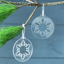 Snowflake Bauble Christmas Decoration
