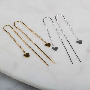 Cupid Drop Earrings In Solid Silver Or Gold - whatsnew