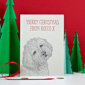 Cockapoo Christmas Card - cards
