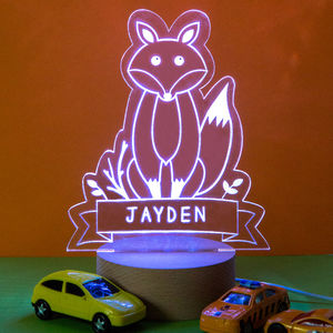 Personalised Fox Night Light - children's lights & night lights