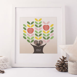Mounted Family Tree Print - posters & prints