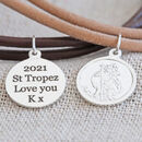 Personalised Engraved St Christopher Leather Bracelet