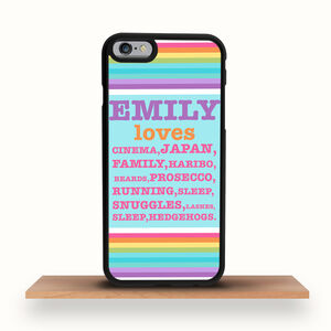 iPhone Case Kawaii Personalised Favourite Things