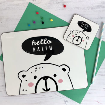 Hello Bear Placemat