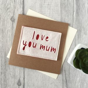 Birthday 'Love You Mum' Card - birthday cards