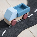 Toddler Wooden Truck Stone Blue