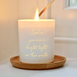 Personalised 'You Are A Bright Light' Candle - candles