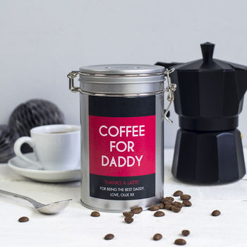Father's Personalised Coffee Gift Tin
