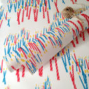 Matching candle design wrapping paper
