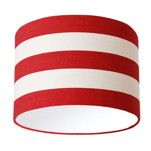Red And White Deckchair Stripe Lampshade - dining room