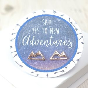 Motivational Mountains Rose Gold Stud Earrings - what's new