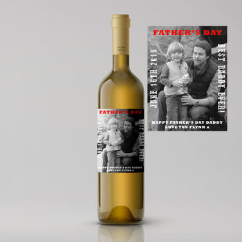 Black And White Photo Father's Day White Wine