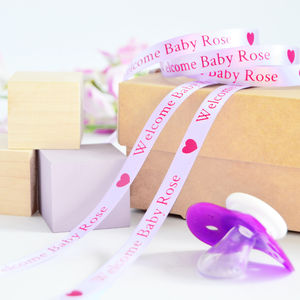 New Baby 10mm Personalised Printed Ribbon - ribbon & wrap