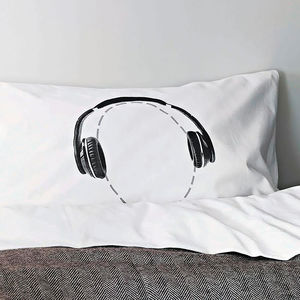 Headphones Pillowcase For Music Lovers Headcase Range - gifts for him