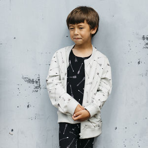 Grey Arrow Print Jacket - best gifts for boys