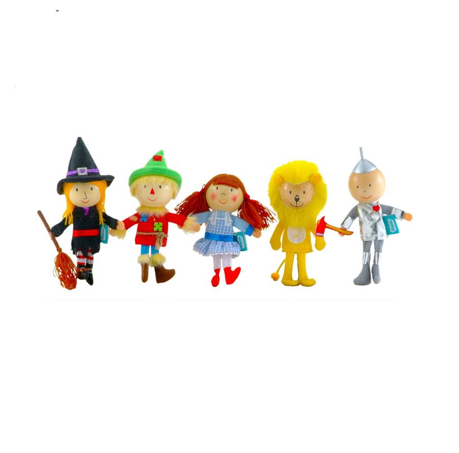 Set Of Wizard Of Oz Wooden Finger Puppets