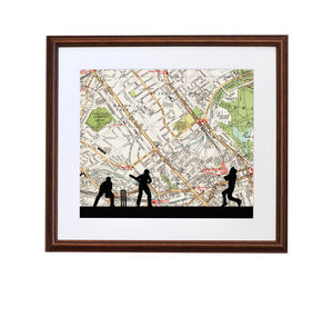 Personalised Cricket Map Print