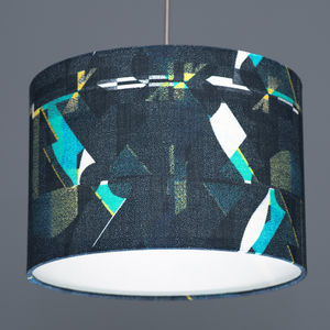 Flock A Shingle Night Fabric Lampshade