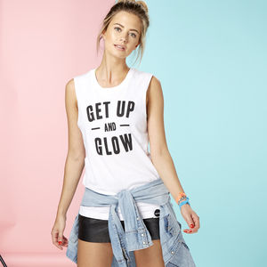'Get Up And Glow' Muscle Tee - vests & camisoles