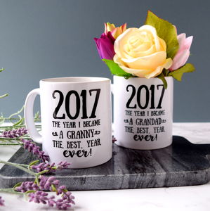 Personalised The Year I Became A Grandparent Mug