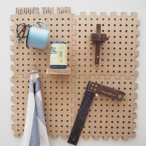 Personalised Peg Board Kit For Dad's Shed