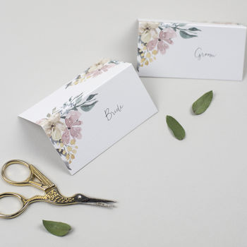 Floral Blush Wedding Place Cards
