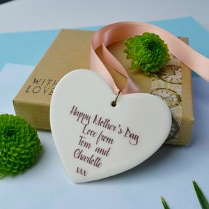 Mother's Day Personalised Heart