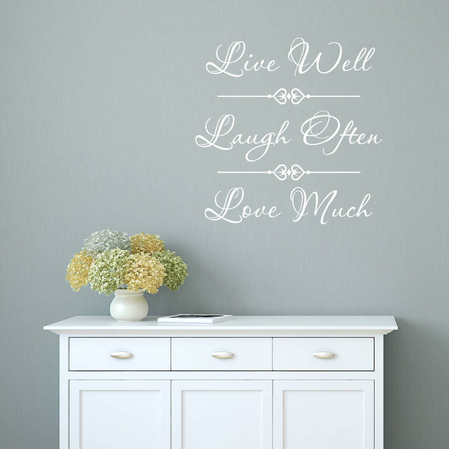 Live Laugh Love Quote Wall Sticker Part 83