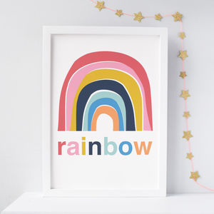 Rainbow Nursery Print - gifts for children