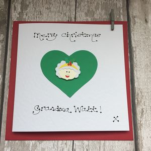 Personalised Mrs Claus Christmas Card - cards