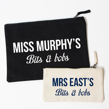 Personalised Teacher Gift Accessory Pouch