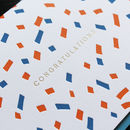 Letterpress And Hot Foil Congratulations Greetings Card