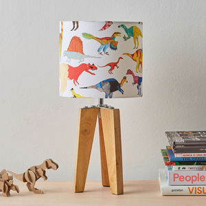 Small Dinosaurs Lampshade - children's lighting