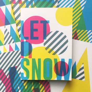 Let It Snow 'Cmyk' Christmas Card