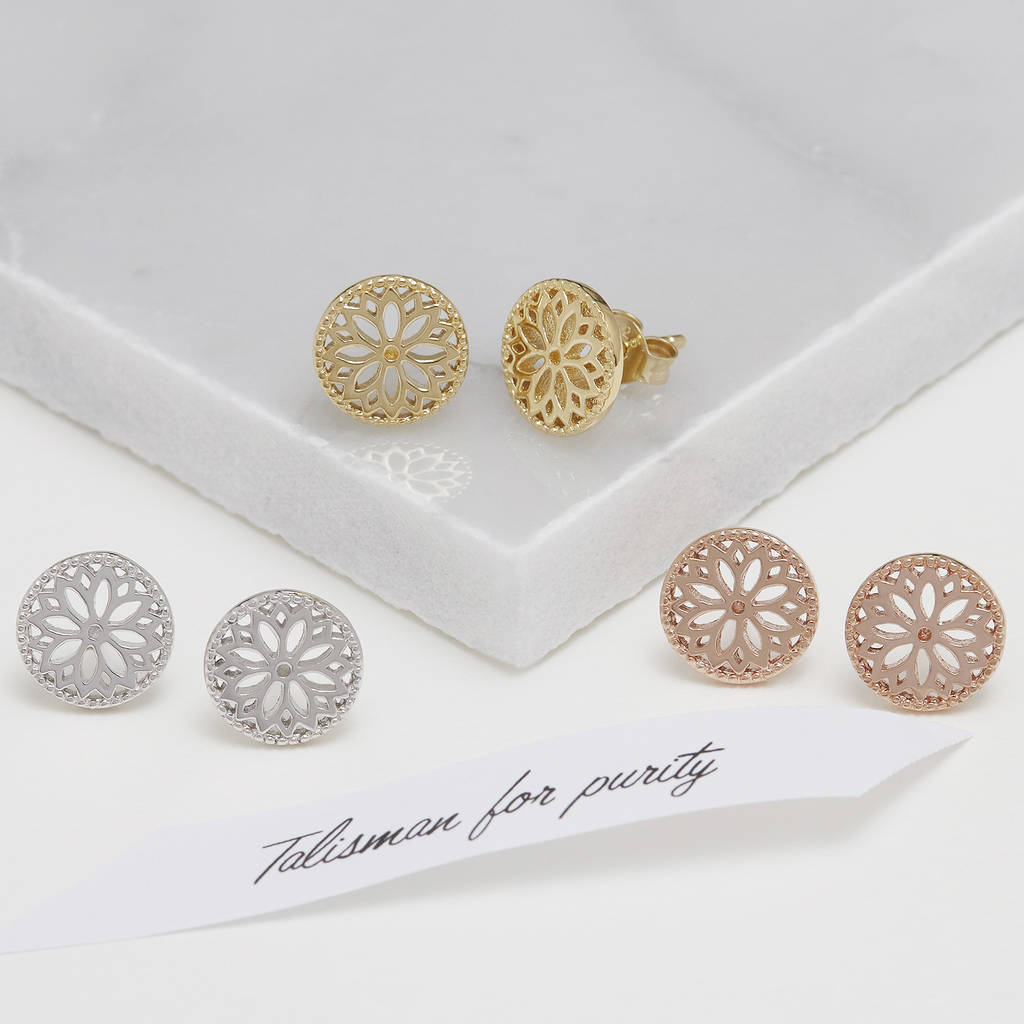 diamond rose products d earrings design gold stud white