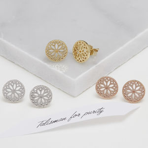 Purity Mandala Stud Earrings