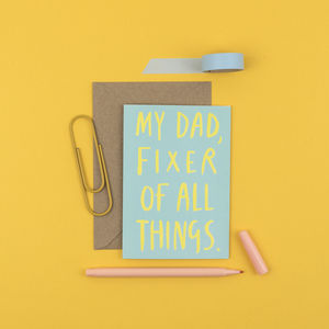 'My Dad, Fixer Of All Things' Card - 'like a dad to me'