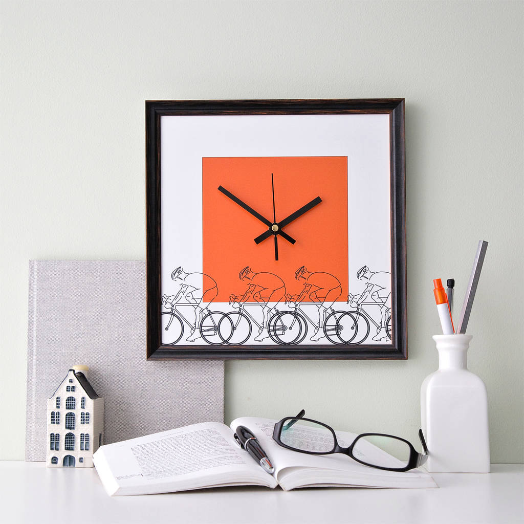 Cycling Hobby Wall Clock