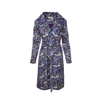 Crane Printed Trench Coat