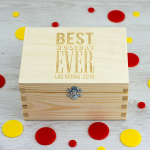 Personalised Holiday Keepsake Box