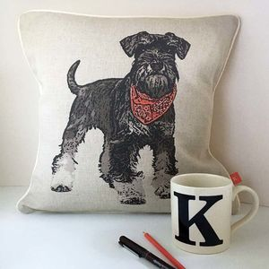 Schnauzer Feature Cushion