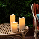 Set Of Three Outdoor Battery LED Candles