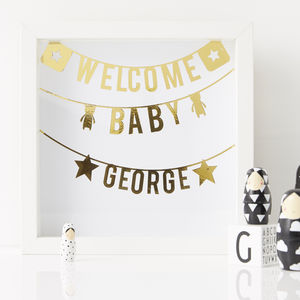 Personalised Framed New Baby Print - children's room
