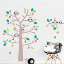 Woodland Tree And Owls Wall Sticker Set