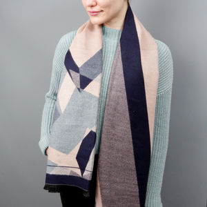 Personalised Cashmere And Geometry Shawl - gifts for her