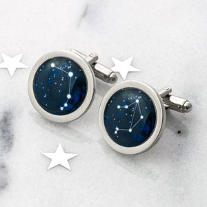 Personalised Zodiac Constellation Cufflinks - gifts for him